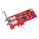 DVB-S2/-S Doppel-Tuner, PCIe Satelliten-TV-Karte (LP),...