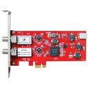 DVB-S2/-S Dual-Tuner, PCIe Satellite-TV-Card (LP), TBS-6902