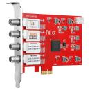 DVB-S2X/-S Quad-Tuner, PCIe Satelliten-TV-Karte, TBS-6904 SE